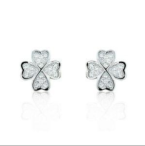 Four Leaf Clover Simulated Diamond Earrings